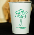 Sustainable bagasse coffecup!